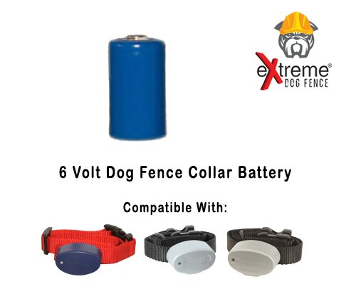 Extreme Dog Fence Collar Battery for Underground Electric Dog Fence Collar Receivers - 6 (Battery Technology Replacement Battery)