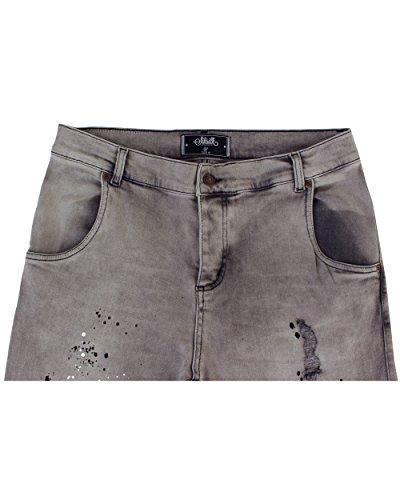 Uomo Skinny Sik Rise Grigiore Silk Jeans Low wUXXxOqz
