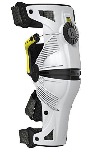 Motocross Knee Braces - Mobius X8 Knee Braces-White/Acid Yellow-M