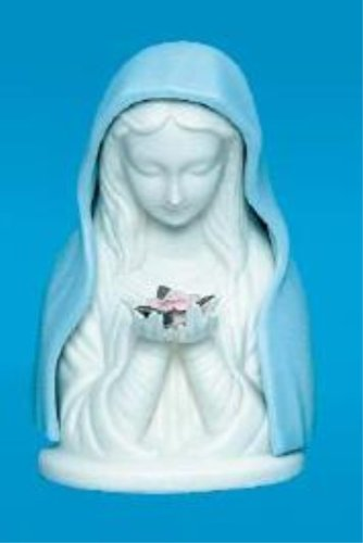 Blue Madonna with Rose Nightlight with Cord (1810)