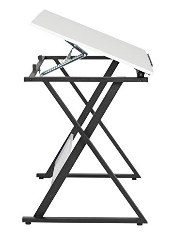 SD Studio Designs Studio Designs 13353 Axiom Modern Art, Drawing, Crafting, Drafting, 42-Inch Wide MDF Adjustable Angle Top Table in Charcoal/White, W x 24'' D x 30'' H by SD STUDIO DESIGNS (Image #2)