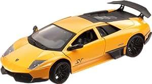 Mondo Motors - Coche de juguete, escala 1:24, modelo Lamborghini Murciélago LP 670 SV, color amarillo (51150)