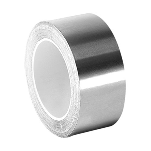3M 3311 Silver Aluminum Foil Tape - 1 in. x 5 yd. Vapor Resistant Rubber Adhesive Foil Tape Roll. Adhesives and Tapes - Silver Aluminum Foil