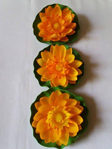 ial Orange Floating Lotus Home Garden Pond (Pelican Planter)
