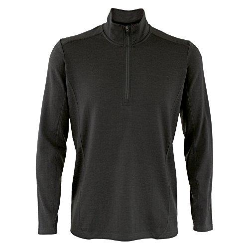 Wild South Mens Midweight Merino 1/4 Zip Jersey Sweatshirt ... (Large, Charcoal)