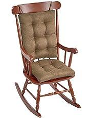 The Gripper Non-Slip Omega Jumbo Rocking Chair Cushions, Gold