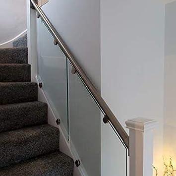 Pasamanos acero y cristal balaustrada de escalera ((49 grados): Amazon.es: Bricolaje y herramientas
