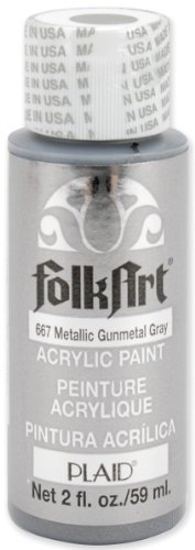 FolkArt Metallic Acrylic Assorted Gunmetal product image