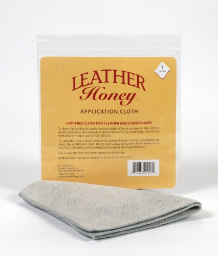 Leather Honey Leather Conditioner Honey Lint-Free Application Use with The Best Products Since 1968, Conditioner + Leather Cleaner - Microfiber Cloth ()