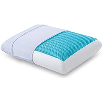 Comfort Revolution Hydraluxe Memory Foam Bed Pillow, Cool Cerulean