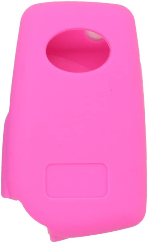 SEGADEN Silicone Cover Protector Case Skin Jacket Compatible with TOYOTA 3 Button Flip Remote Key Fob CV9408 White