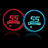 Auto Sport 2PCS LED Cup Holder Mat Pad Coaster with USB Rechargeable Interior Decoration Light Fit Camaro Accessory: more info