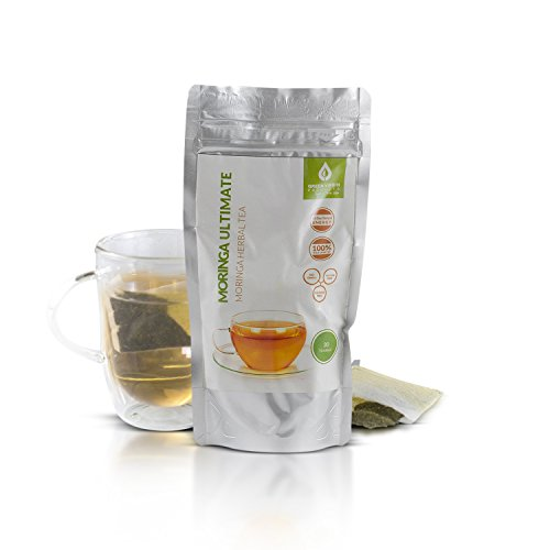 Green Virgin Moringa Oleifera Tea Bags | 100% Pure, Wild-Crafted & Natural Herbal Tea in Oxidation-Free Pouch (30 Bags)