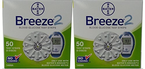 Bayer Breeze 2 Blood Glucose Test Strips