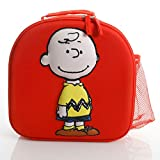 Peanuts Lunch Time Pals Charlie Brown 11.25 Inch Lunch Bag, Red