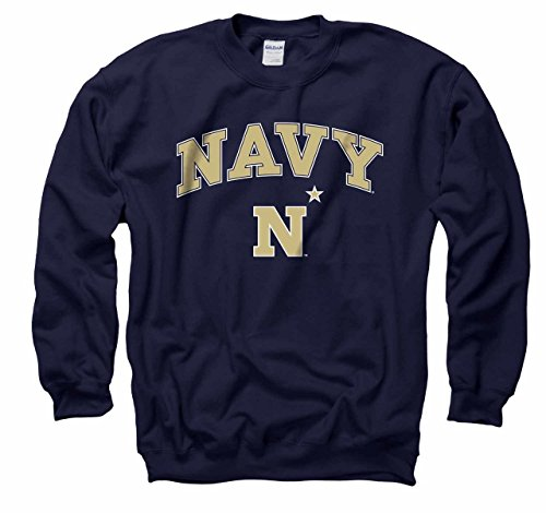 - Campus Colors Navy Midshipmen Arch & Logo Gameday Crewneck Sweatshirt - Navy