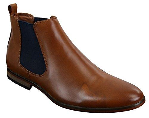 429e2f148084 Bottines hommes italiennes cuir cheville sans lacets Smart décon.