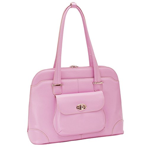 McKlein USA W Series Avon Leather Briefcase for Women Business Tote in Pink