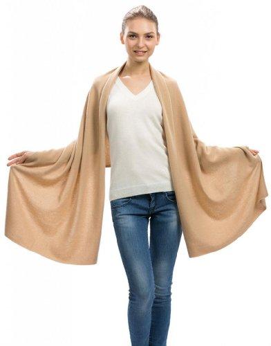 (Citizen Cashmere Camel Cashmere Scarf Wrap - 100% Cashmere (43 500-08-09) One Size)