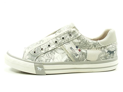 Mustang Women's 1146-402-4 Slip on Trainers, Beige Grau