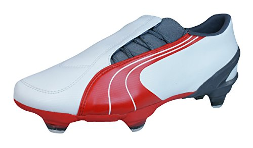 (PUMA V3.06 SG Mens Soccer Boots/Cleats-White-7.5)