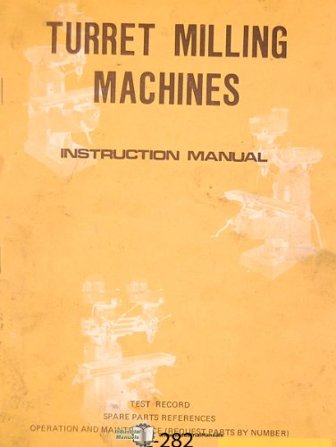 Lagun FTV-2, Milling Machine instructions and Parts Manual