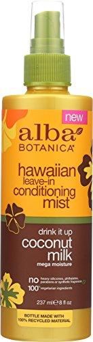Alba Botanica Hawaiian Coconut Milk Leave-in Conditioning Mist, 8 Ounce