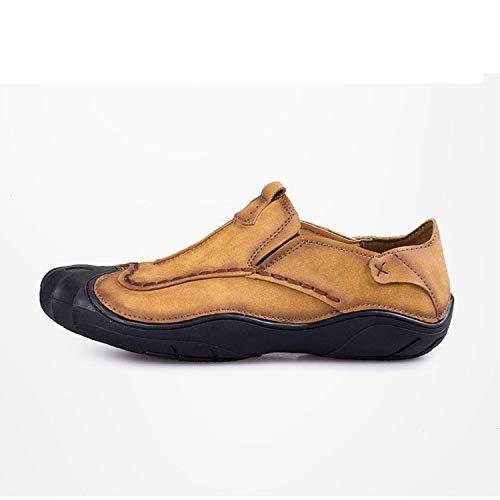 suola Cachi antiscivolo casual Colore kaki marrone casual mocassini da uomo Qiusa 41 scuro Marrone morbida Dimensione Scarpe EU TqfwxFCA