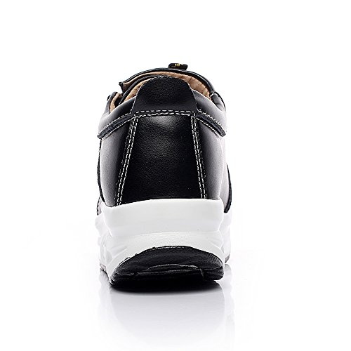rismart Women Fashion Platform Leather Fitness Sneakers Swing Walking Shoes For Shaping Legs Black 1062 US6 bnEeu7tVGj