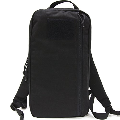 (Black EDC Backpack - Compact 12 Liter Backpack, Slim Minimalist Backpack)
