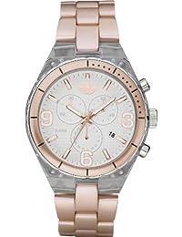Adidas Unisex Cambridge ADH2546 Pink Plastic Quartz Watch with White Dial