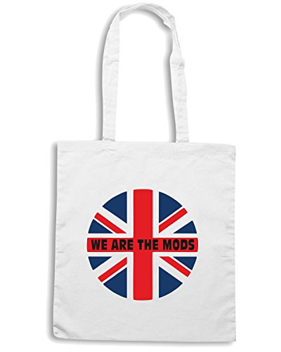 T-Shirtshock - Bolsa para la compra WC0640 We are the mods Blanco