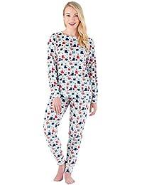 Women's Sleepwear Super Soft Fleece 2-Piece Pajamas PJ Set