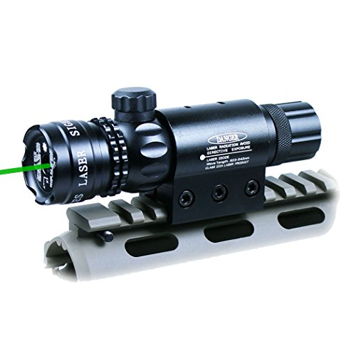 Tactical Variable Waterproof lluminated Reticle Green Sight Mil Dot Scope, Sight Dot Sighter with Mounts for Sniper Military Pistol Handgun Air Gun ()