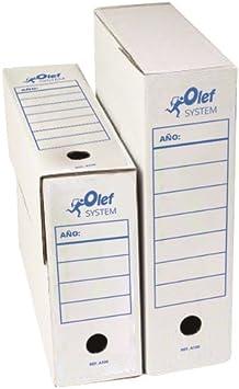Caja Archivo DEFINITIVO OLEF Carton F PROLONGADO 115mm: Amazon.es ...