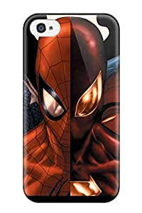 High Quality Shock Absorbing Case For Iphone 4/4s-marvel