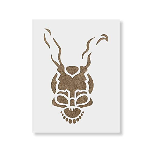 Frank The Bunny Halloween Stencil Template - Reusable Stencil Made in USA -