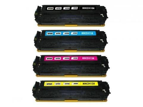 SuppliesOutlet Premium Compatible High Yield Toner Cartridge Set for HP 305A CE410A CE411A CE412A CE413A