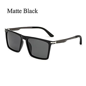 105c9e01da TL-Sunglasses Gafas de Sol polarizadas Polaroid Brazos de Aluminio  Cuadrados Hombres de Negro de