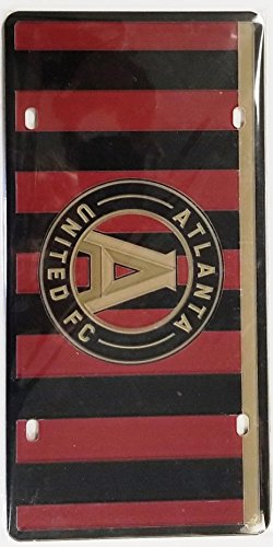 United License Plate - Atlanta United FC JERSEY 51400 Premium Laser Tag Acrylic Cut Inlaid License Plate Soccer Football Club