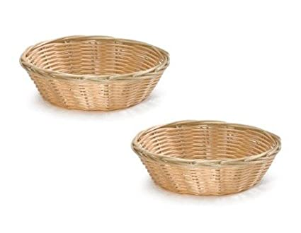 22f1b197a3f577 Amazon.com  8-Inch Round Woven Bread Roll Baskets