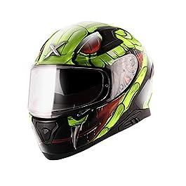 axor Apex Venomous Black Neon Green Helmet-M, Medium