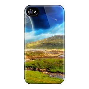 Durable Defender Case For Iphone 4/4s Tpu Cover(surrounding Calm)