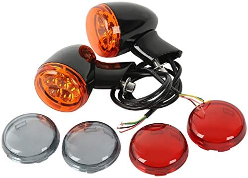 Rear Amber LED Turn Signal Light Indicator For Harley XL 883 1200 Sportster 92+