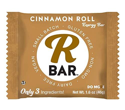 Protein Cinnamon Roll - RBar Energy Real Ceylon Cinnamon Roll Super Food Energy Bar - Dairy & Gluten Free Snacks, Vegan, Protein Bar - 3 Healthy Ingredients (10 Pack)
