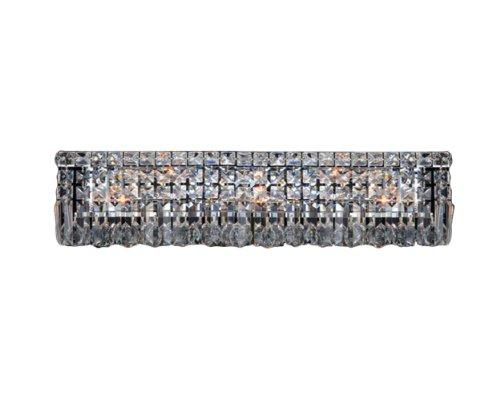 Collection 6 Light Crystal (Worldwide Lighting Cascade Collection 6 Light Chrome Finish Crystal Vanity Light 24