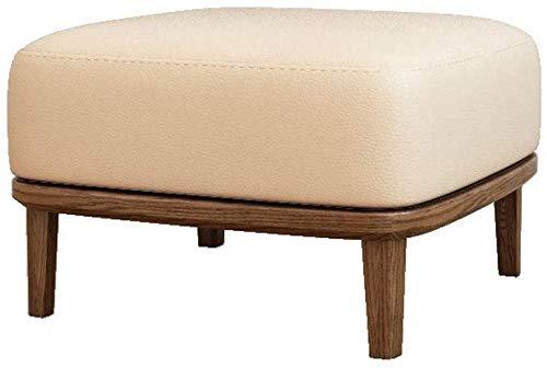 Gepolsterter Hocker Hocker Sofa Bench Change Schuhe Massivholz für Wohnzimmer Schlafzimmer Schminktisch Schwarz Weiß Runder Hocker mit 4 BeinenMaximale Tragfähigkeit 100kg