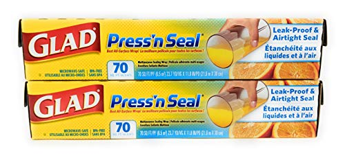 (Glad Press 'n Seal Wrap (2-Pack, 70 sq. ft. each - Total 140 sq. ft.))
