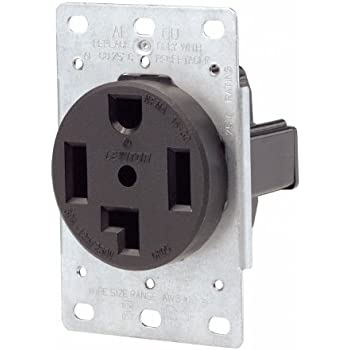 amazon com leviton 279 50 amp 125 250 volt nema 14 50r 3p 4w leviton 071 00278 000 4 wire 30 amp 250 volt flush mount dryer receptacle