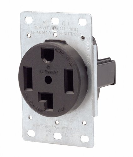 Mount Flush 250v (Leviton 071-00278-000 4 Wire 30 Amp 250 Volt Flush Mount Dryer Receptacle)